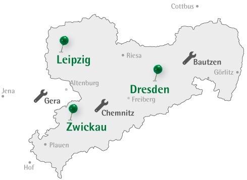 Zwickau Karte.Standorte Kontakt Sachsenstapler Gmbh Verkauf Vermietung